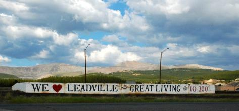 Leadville sign - Wristen