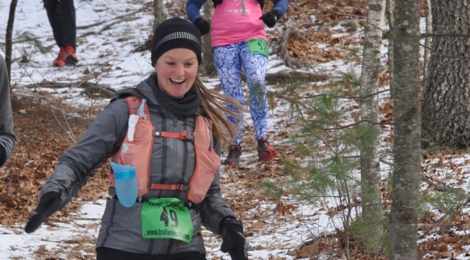Harper Victorious at Frozen Yeti with Help from Her Trail Animal Friends