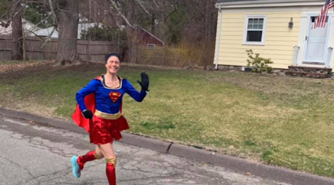 Mitchener Uses Running Superpower to Bring Laughter to Neighbors During Pandemic